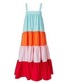 Shop the MDS Stripes Colorblocked Tiered Dress & other designer styles at IntermixOnline.com. Free shipping +$150.