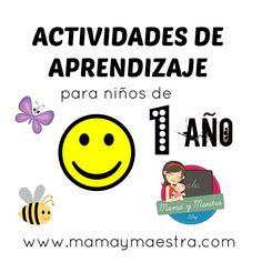 Actividades de aprendizaje para niños de 1 año - Mamá y maestra