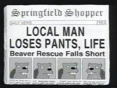 Simpsons: Local Man Loses Pants, Life (Springfield Shopper)
