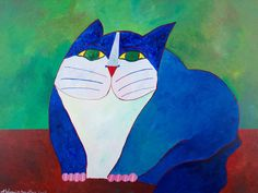Cat Sketch, Sketches, Chicken, Painting, Blue Cats, Cute Kittens, Animals, Tela, Goats
