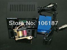 1Pc Tattoo Machine Gun Simple  Kit Digital Tattoo Power supply With Foot PEDAL CLIP CORD FOR TATTOO KIT SUPPLY 031
