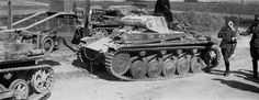 The Panzer II was a light battle tank and inferior to the design of the Allies… Mg 34, Rock Island Arsenal, Sherman Tank, Military Armor, Armored Fighting Vehicle, Military Pictures, Ww2 Tanks, World Of Tanks, Battle Tank