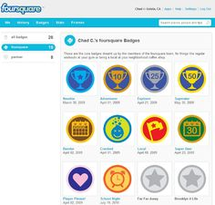 einige Foursquare-Badges Search People, Badges, Four Square, App, History, Apps, Historia, Badge