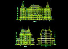 Large buildings,Free Autocad Drawing, Cad Blocks