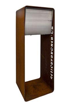 briefkasten edelstahl holz integrierte beleuchtung | wohnen, Moderne