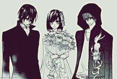 Vampire Knight - Kaname, Yuki, and Zero.