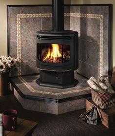 Wood Burning Stove Corner Fireplace Inserts New Ideas Wood Stove Surround, Wood Stove Hearth, Fireplace Hearth, Stove Fireplace, Fireplace Inserts, Wood Burner, Fireplace Design, Hearth Pad, Corner Fireplaces