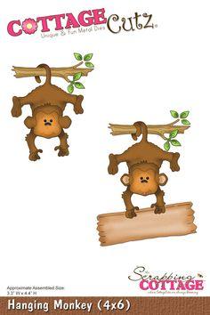 CottageCutz Hanging Monkey (4x6)
