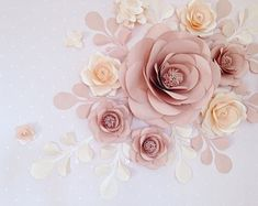 When it comes to wedding reception the additional use of Paper Flowers Arrangement has never fail to impress the guests and this idea will clearly caught them by heart ! The sweet incorporation of Paper Leaves and Butterflies exudes an intimate and romantic feeling. The mix of paper roses, paper hydrangea, leaves and butterflies shouts elegance, glam and sophistication. The combination of Dusty Rose, Soft Pink and Pink colors in this paper flower set definitely adds a chic and modern finish…