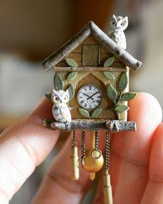 2017, Miniature Cu cu Clock (TUTORIAL)♡ ♡ By yukitsplace