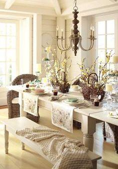 so pretty - love the chandelier