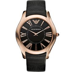Shop Armani Super Slim Black Dial Mens watch free ground shipping, guaranteed authenticity, and a 30 day money-back guarantee. Armani Watches, Vintage Watches, Stainless Steel Case, Emporio Armani, Watches For Men, Wrist Watches, Timeless Fashion, Omega Watch, Black Leather