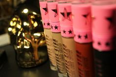 Swatch and Review: Jeffree Star Cosmetics liquid lipstick on Ink and Champagne - make up
