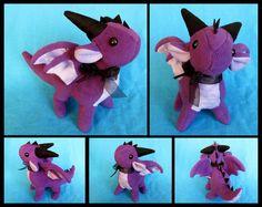Standing Purple Dragon Plushie by *DragonsAndBeasties on deviantART