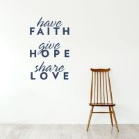 Have Faith Wall Quote Decal