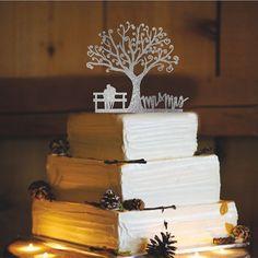 Rustikale Hochzeitstorte Topper von CAKETOPPERHOUSE auf Etsy