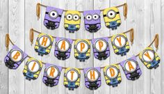 Despicable Me 2  Inspired Yellow & Purple Minion by Shnookers