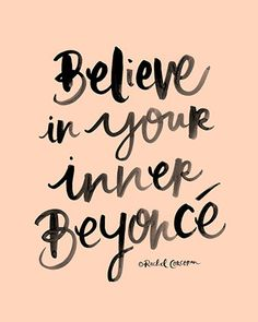 Beyonce Poster Believe In Your Inner Beyonce by Rachillustrates