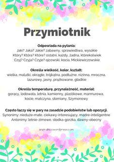 Primary Teaching, Teaching Kids, Polish Language, 5 Minute Crafts, Bujo, Montessori, Education, School, Notes