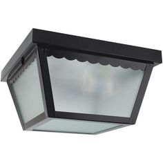 "Sunset Lighting F2402 2 Light Outdoor 10"" Wide Flush Mount Ceiling Fixture Black Outdoor Lighting Ceiling Fixtures Flush Mount"