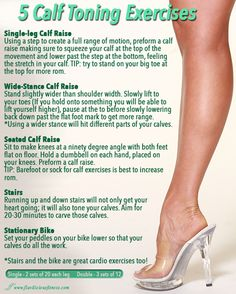 Workout Wednesday – 5 Calf Toning Exercises Calf Toning Exercises For Women – Fitness For Women by Flavia Del Monte Toning Workouts, Calf Workouts, Fitness Exercises, Calf Exercises At Home, Lower Leg Exercises, Wednesday Workout, Calf Raises, Calf Muscles, Excercise
