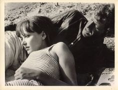 Anna Karina, Jean-Paul Belmondo,Pierrot le fou Jean-Luc Godard 1965.