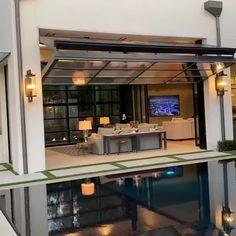 home decoration video - Modern Loft Interior Design, Home Interior, Luxury Interior, Door Design, House Design, Glass Garage Door, Glass Door, Garage Door Windows, Garage Bar