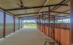 Horse Stall Shade Screens