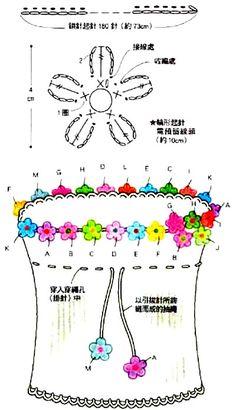 Sombrero con flores radios para las niñas