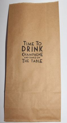 50 Hand Stamped Kraft / Brown Paper Time to Favour Bag  by priore, $25.00
