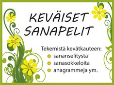 Keväiset sanapelit #kevät #äikkä #sanapeli #sanasokkelo #aivojumppa #anagrammi #ryhmätoiminta #vappu #pääsiäinen Special Education, Kindergarten, Presentation, Classroom, Student, Science, How To Plan, Learning, School