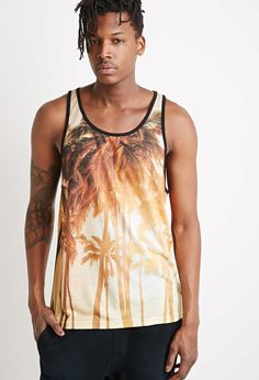 Palm Tree Graphic Tank - T-Shirts + Vests - 2000055777 - Forever 21 UK