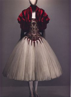 """""""[In this collection] she was a feral creature living in the tree. When she decided to descend to earth, she was transformed into a princess."""" - Alexander McQueen Autumn/Winter 2008-09"""
