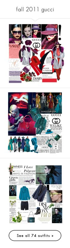 """""""fall 2011 gucci"""" by aaliyah ❤ liked on Polyvore featuring Gucci, Vince, Alexander McQueen, Valentino, EASTON, hats, accessories, cappelli, gucci and blue"""