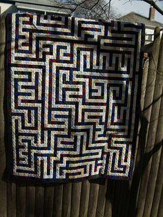 maze quilt http://www.instructables.com/id/Maze-Quilt-Design-Choices/