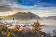 #basilika -herbst-nebel- #morgenstimmung- #mariazell