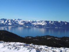 Lake Tahoe. Where I wish I could spend all winter skiing and drinking irish coffees by the lake.