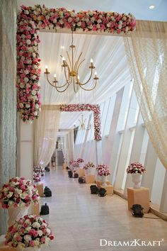 Wedding ceremony pictures Wedding entrance Wedding stage decorations Wedding entrance decor Wedding hall decorations Wedding arch - A dreamy pathway for your dream wedding Weddingideas weddingp - Desi Wedding Decor, Wedding Stage Design, Wedding Hall Decorations, Marriage Decoration, Wedding Mandap, Wedding Scene, Wedding Chairs, Wedding Table, Wedding Church