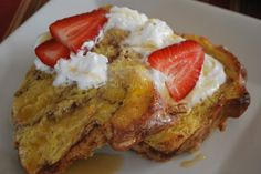 Kneader's french toast and caramel syrup.