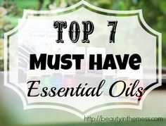 Check out this quick reference guide to the 7 Must Have Essential Oils. This is valuable information when trying to decide which oil is needed.