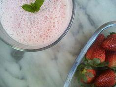 Strawberries milk-shake