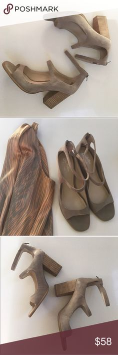 NWOT { Seychelles } heels in suede Seychelles heels in suede, comfy wide heel, new without tags or box but does show some storage and handling wear to it (mild rubbing, a few markings to heel and exterior, light stitch pull) these are in great condition otherwise and oh so cute! Seychelles Shoes Heels