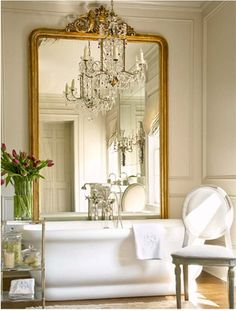 Drooling over this bathroom's mirror