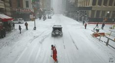 He says that he had no reservations while snowboarding on the icy terrain. However, there were a few difficulties encountered while filming. | A Man Went Snowboarding Through Times Square During The Blizzard
