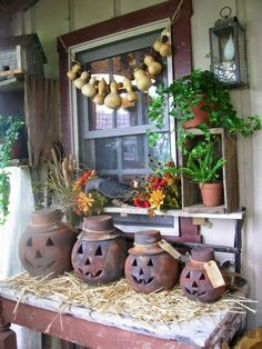 Photo only... love the birdhouse gourd garland.