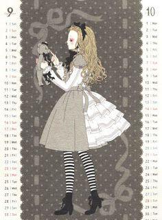 Lolita Paradise: Angelic Pretty calendario (antiguo)