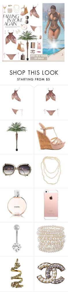 """""""pop a couple bands with a niigga like me"""" by rocio-rivera ❤ liked on Polyvore featuring Jessica Simpson, Chanel, Kara, Enchanté, Gioelli, Forever 21, Erickson Beamon, Marc Blackwell and Chapstick"""