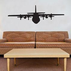 Military C130 Airplane Vinyl Wall Window Decal Sticker | eBay