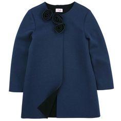 Il Gufo Navy blue neoprene coat Blue - 53294 | Melijoe.com