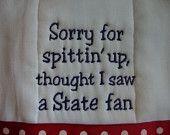 Ole Miss Burp Cloth~So hilarious, LOVE!! :)